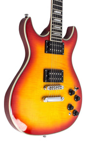 Eastwood Guitars Esprit Ultra Flamed Cherryburst Player POV
