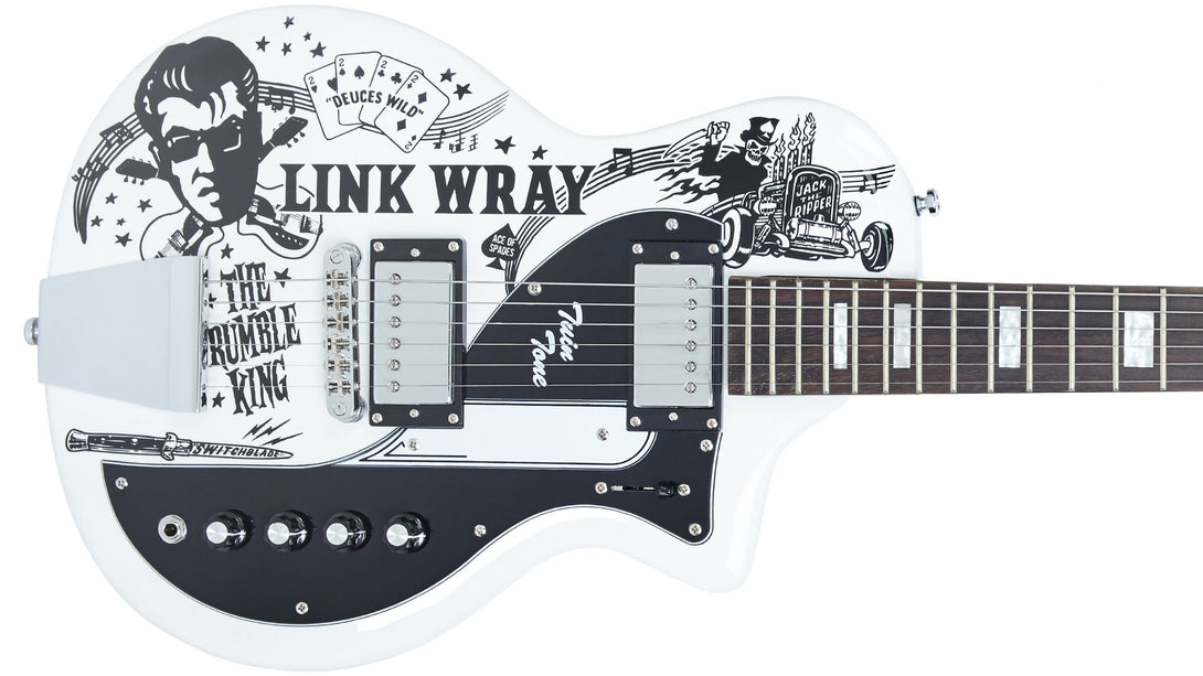 Eastwood Guitars Airline Twin Tone Link Wray Tribute Custom Closeup