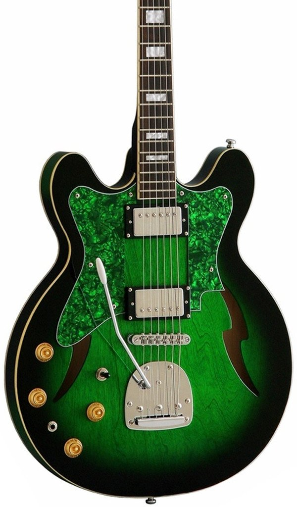 Eastwood Guitars Custom Kraft DLX Greenburst LH Featured