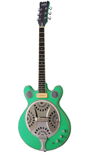 Eastwood Guitars Delta 6 Seafoam Green Angled