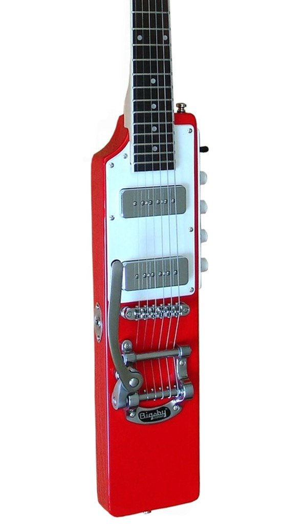 Eastwood Guitars La Baye 2x4 DEVO Signature Red LH Featured