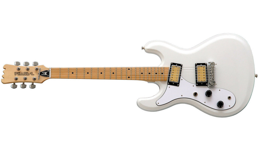 Eastwood Guitars Hi Flyer Phase 4 White LH Angled