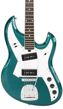 Eastwood Guitars Liberty MS150 Metallic Teal Featured