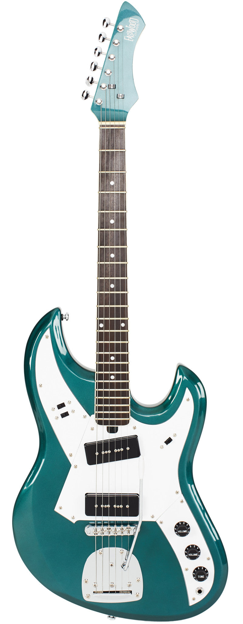 Eastwood Guitars Liberty MS150 Metallic Teal Full Front