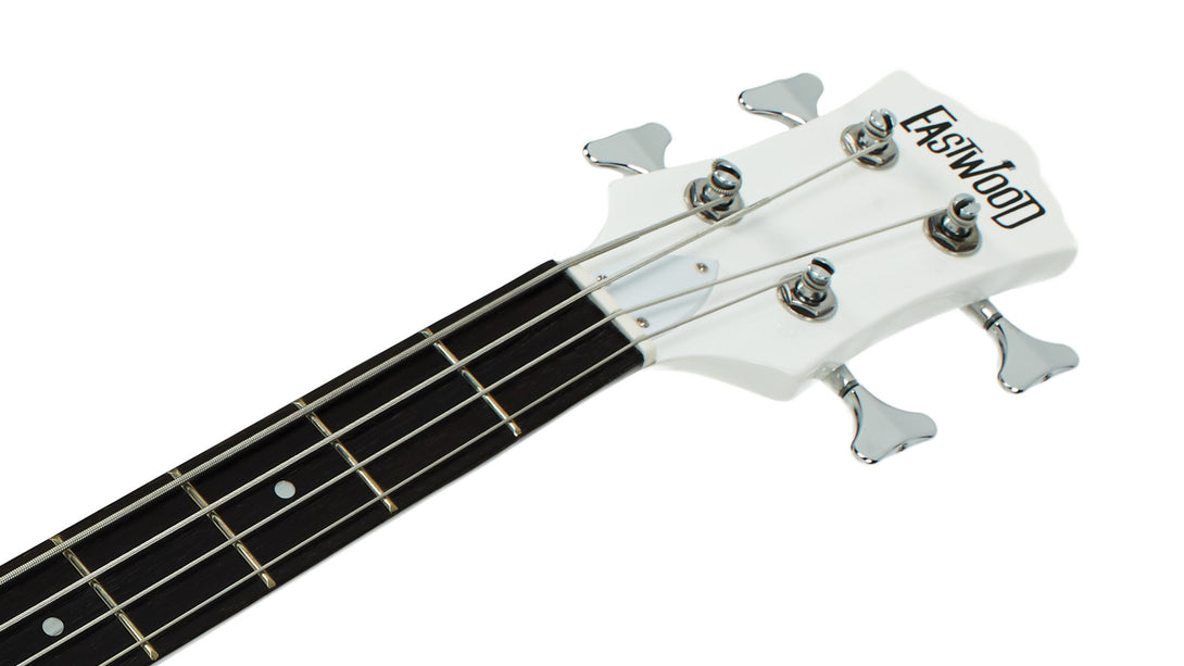 Eastwood Guitars RD Bass White Headstock