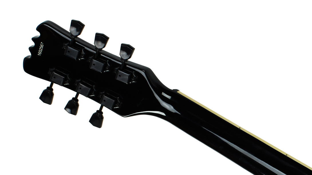 Eastwood Guitars Sidejack Baritone Blackout Head Back