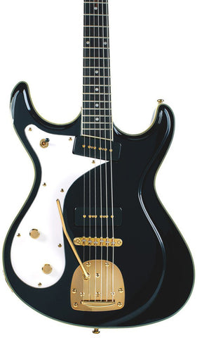 Eastwood Guitars Sidejack Baritone DLX Black LH Featured
