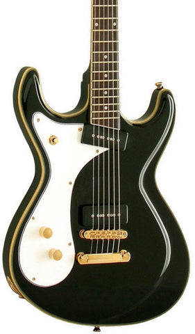 Eastwood Guitars Sidejack Baritone Black LH Featured