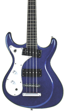 Eastwood Guitars Sidejack Bass 32 Metallic Blue LH Featured