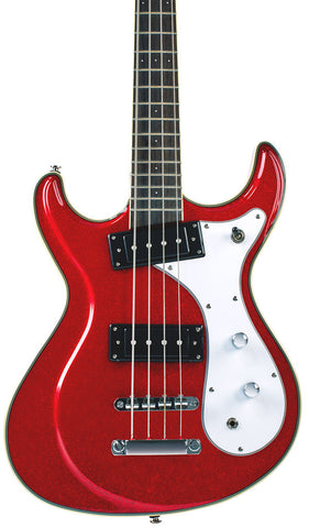 Eastwood Guitars Sidejack Bass 32 Metallic Red Featured