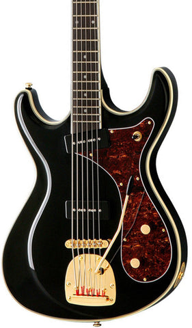 Eastwood Guitars Sidejack Bass VI Black Featured