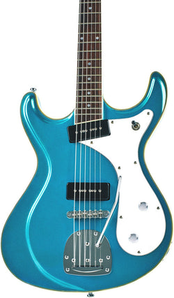 Eastwood Guitars Sidejack Baritone DLX Metallic Blue Featured
