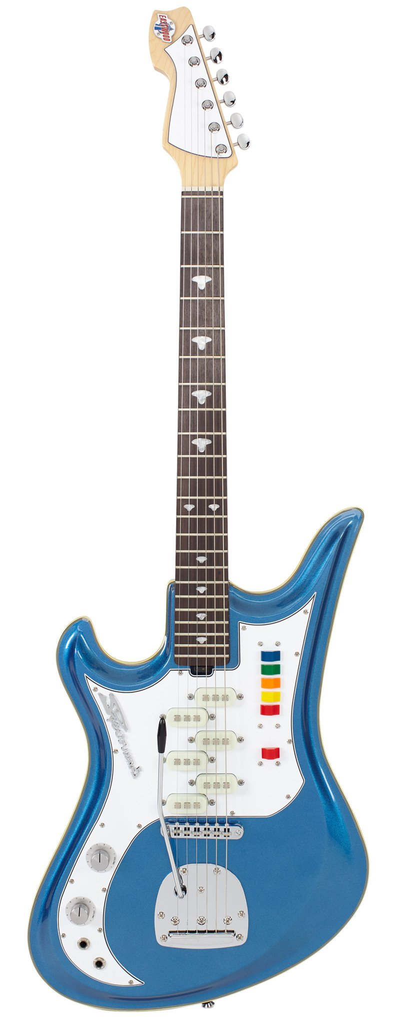 Eastwood Guitars Spectrum 5 PRO Metallic Blue LH Full Front
