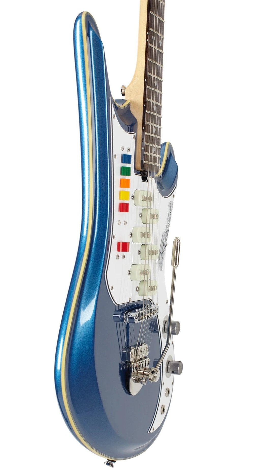 Eastwood Guitars Spectrum 5 PRO Metallic Blue Player POV