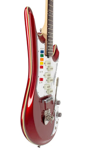 Eastwood Guitars Spectrum 5 PRO Metallic Red Player POV