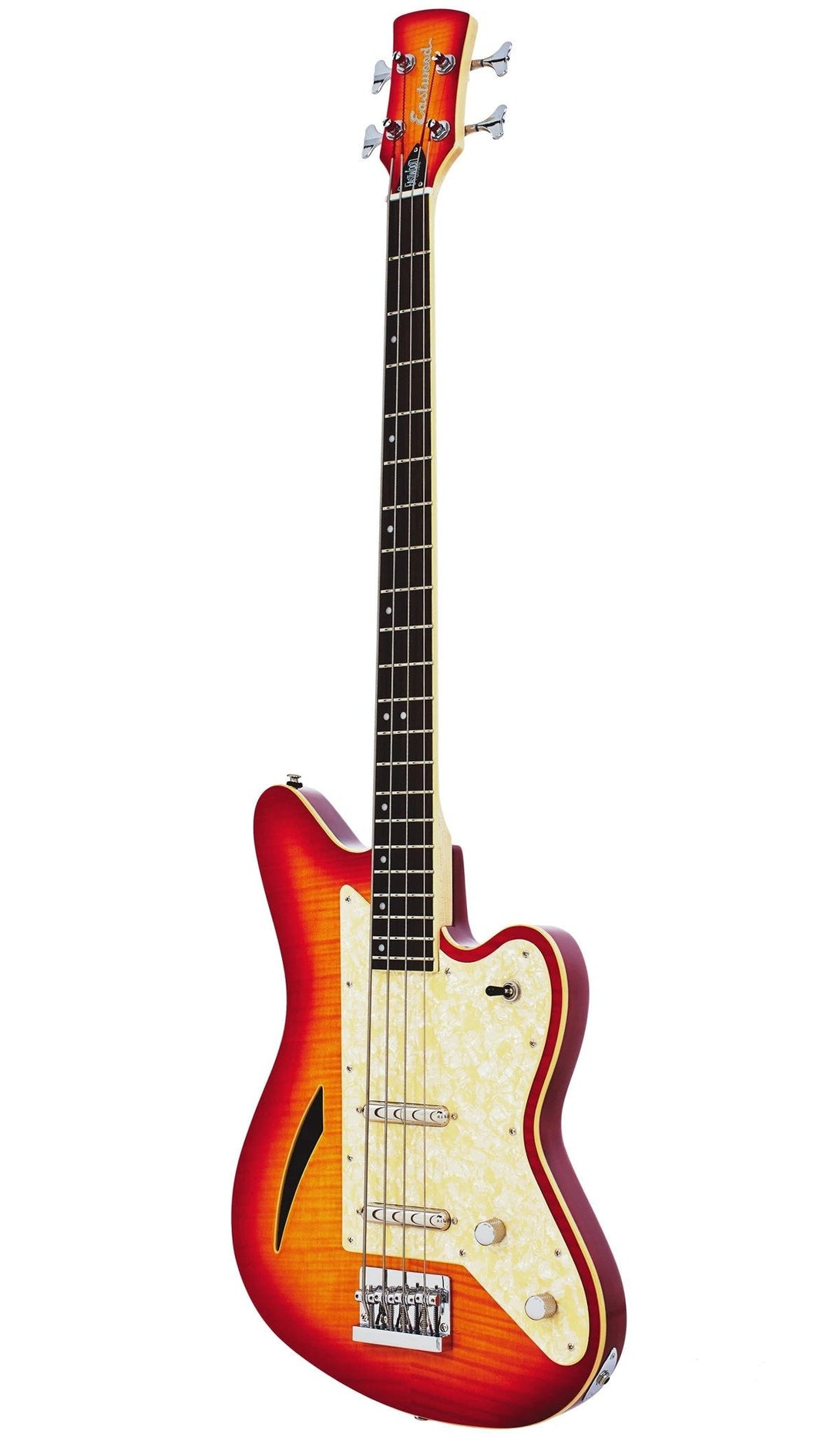 Eastwood Guitars Surfcaster Bass Cherryburst Angled