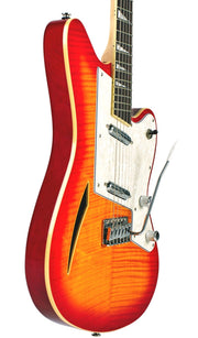 Eastwood Guitars Surfcaster Cherryburst Player POV