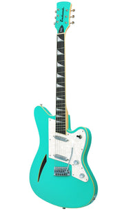 Eastwood Guitars Surfcaster Seafoam Green Angled