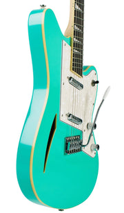 Eastwood Guitars Surfcaster Seafoam Green Player POV