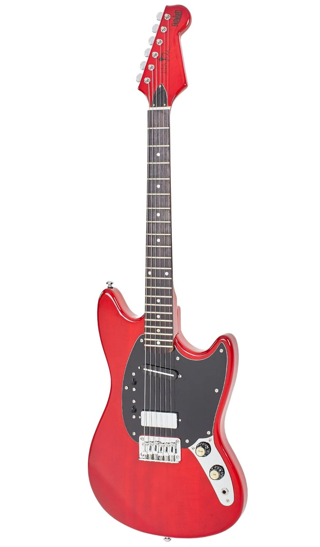 Eastwood Guitars Warren Ellis 6 Dark Cherry Angled