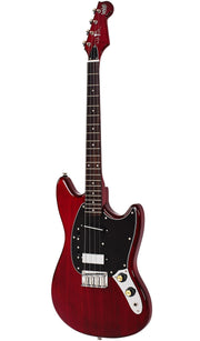 Eastwood Guitars Warren Ellis Tenor 2P Cherry Angled