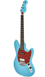 Eastwood Guitars Warren Ellis Tenor 2P Sonic Blue Angled