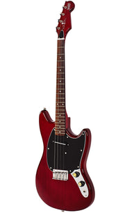 Eastwood Guitars Warren Ellis Tenor Cherry Angled