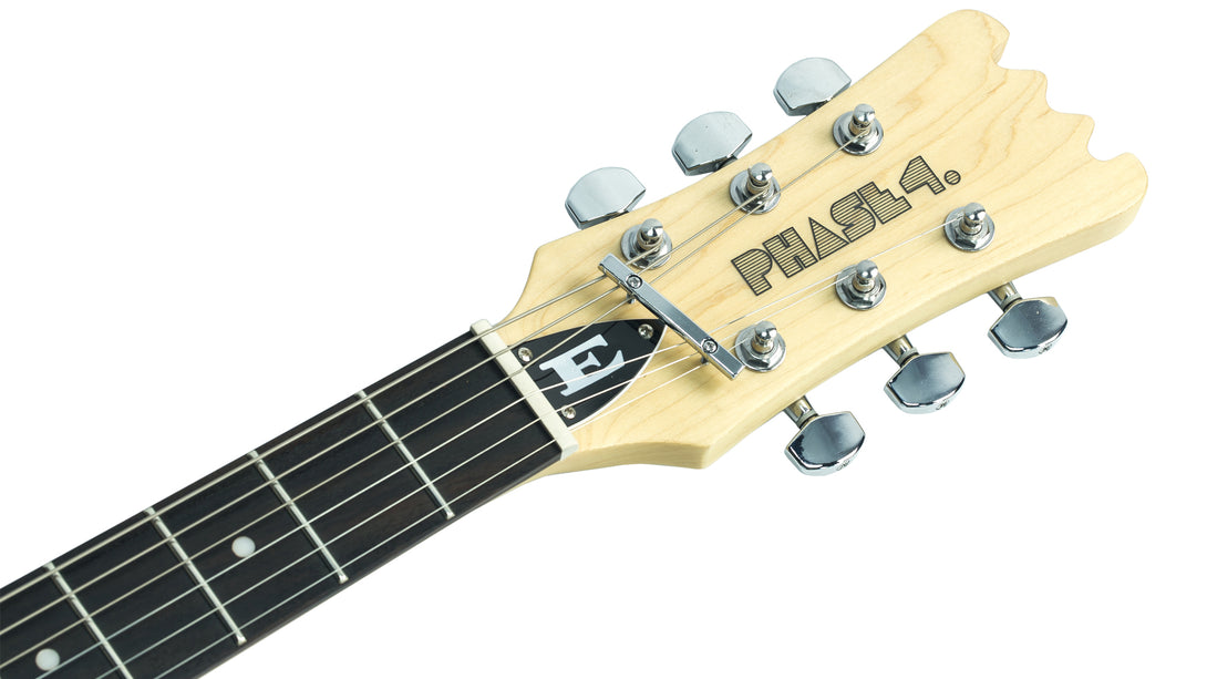 Eastwood Guitars Hi Flyer Phase 4 Sunburst Headstock