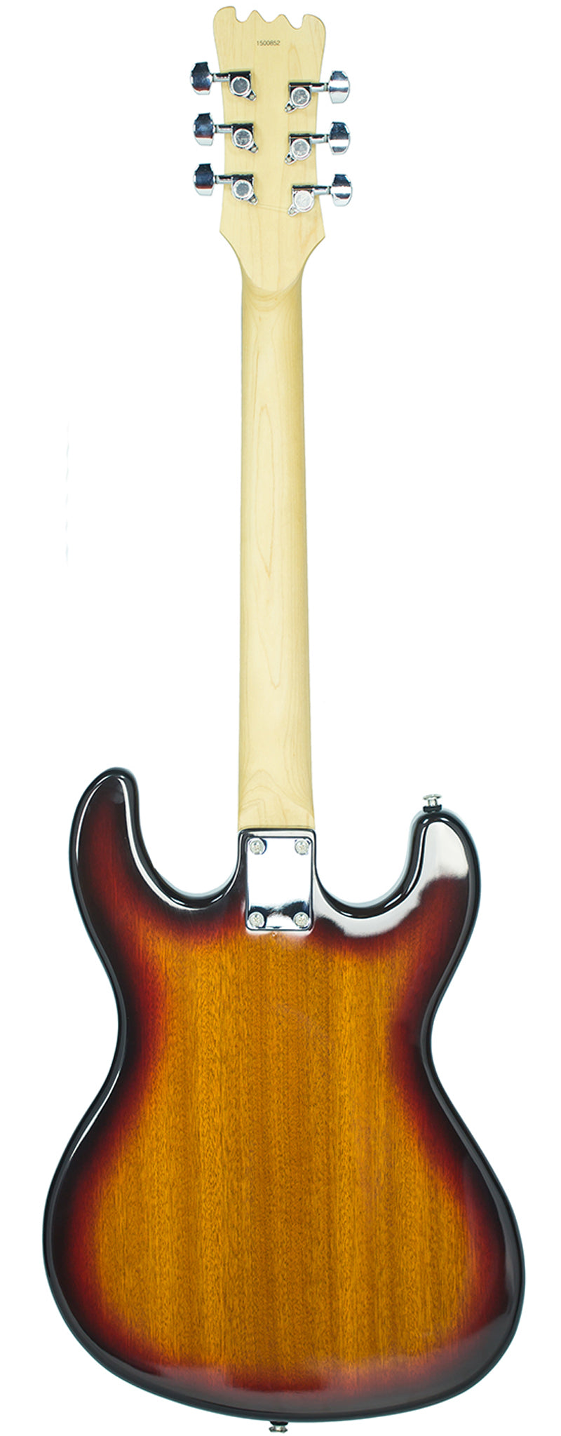 Eastwood Guitars Hi Flyer Phase 4 Sunburst Full Back