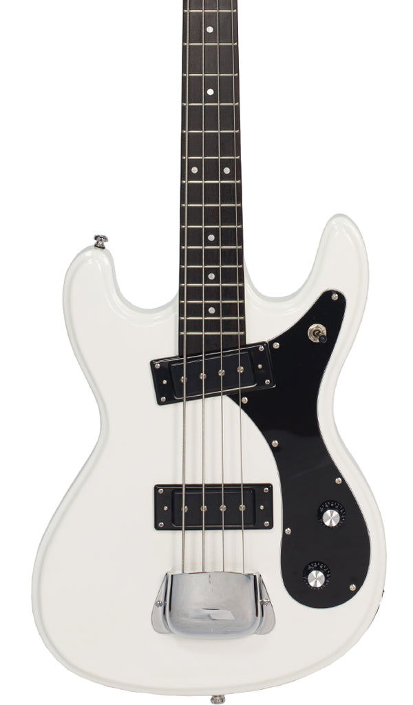 Eastwood Guitars Hi Flyer Bass White Featured