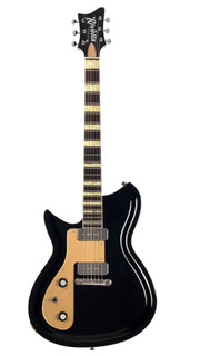 Eastwood Guitars Rivolta Combinata Toro Black LH Angled