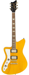 Eastwood Guitars Rivolta Mondata II HB LH Miele Amber and Gold Full Front