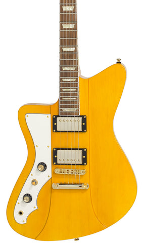 Eastwood Guitars Rivolta Mondata II HB LH Miele Amber and Gold Featured
