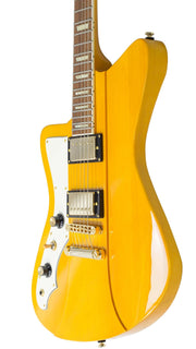 Eastwood Guitars Rivolta Mondata II HB LH Miele Amber and Gold Player POV