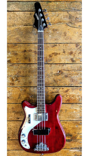 Eastwood Guitars Eastwood Newport Bass LH Cherry Angled