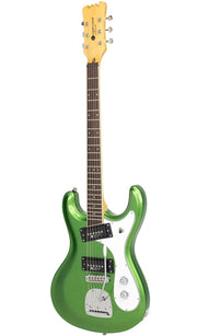 Eastwood Guitars Sidejack PRO DLX Candy Green Angled