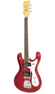 Eastwood Guitars Sidejack PRO DLX Candy Red Angled