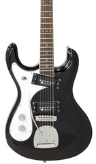 Eastwood Guitars Sidejack PRO DLX LH Jet Black Featured