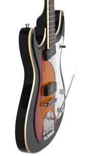 Eastwood Guitars Sidejack Baritone DLX Sunburst Player POV