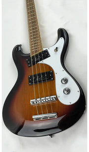 Eastwood Guitars Sidejack Pro Bass Sunburst Closeup