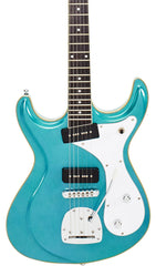 Eastwood Guitars Sidejack DLX Metallic Blue Featured