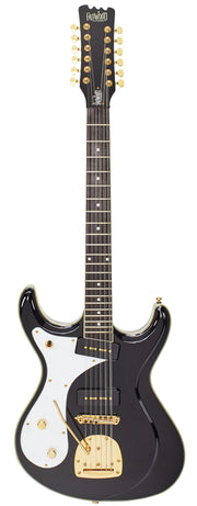 Eastwood Guitars Sidejack 12 DLX Black LH Full Front