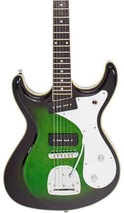 Eastwood Guitars Sidejack DLX Greenburst Featured