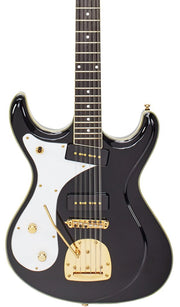 Eastwood Guitars Sidejack 12 DLX Black LH Featured