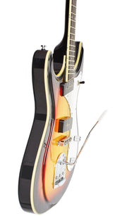 Eastwood Guitars Sidejack DLX Sunburst Player POV