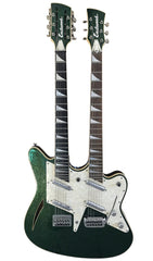 Eastwood Guitars Surfcaster 12/6 Metallic Green Angled