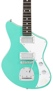 Eastwood Guitars Jeff Senn Model One Baritone Seafoam Green Angled