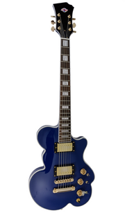 Eastwood Guitars DEVO Cloud Guitar Blue Angled