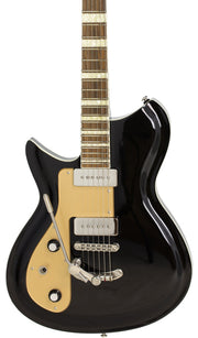 Eastwood Guitars Rivolta Combinata DLX Toro Black LH Featured