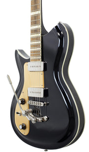 Eastwood Guitars Rivolta Combinata DLX Toro Black LH Player POV